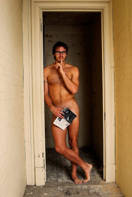 Library Hunks Remove Clothes for a Cause