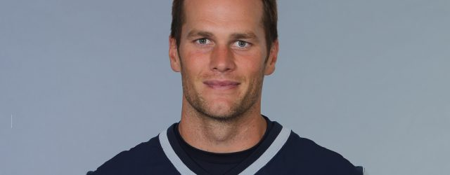 This is a 2014 photo of Tom Brady of the New England Patriots NFL football team.  This image reflects the New England Patriots active roster as of June 11, 2014 when this image was taken.