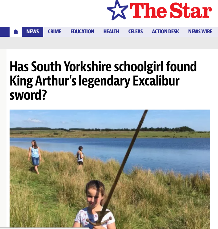 Seven-Year-Old Finds King Arthur's Sword