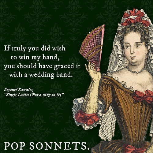 Pop Songs as Sonnets