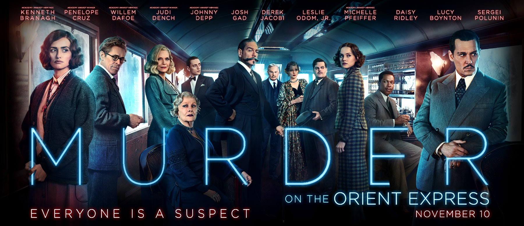 <i>Murder on the Orient Express</i>&nbsp; Remake Opens Friday