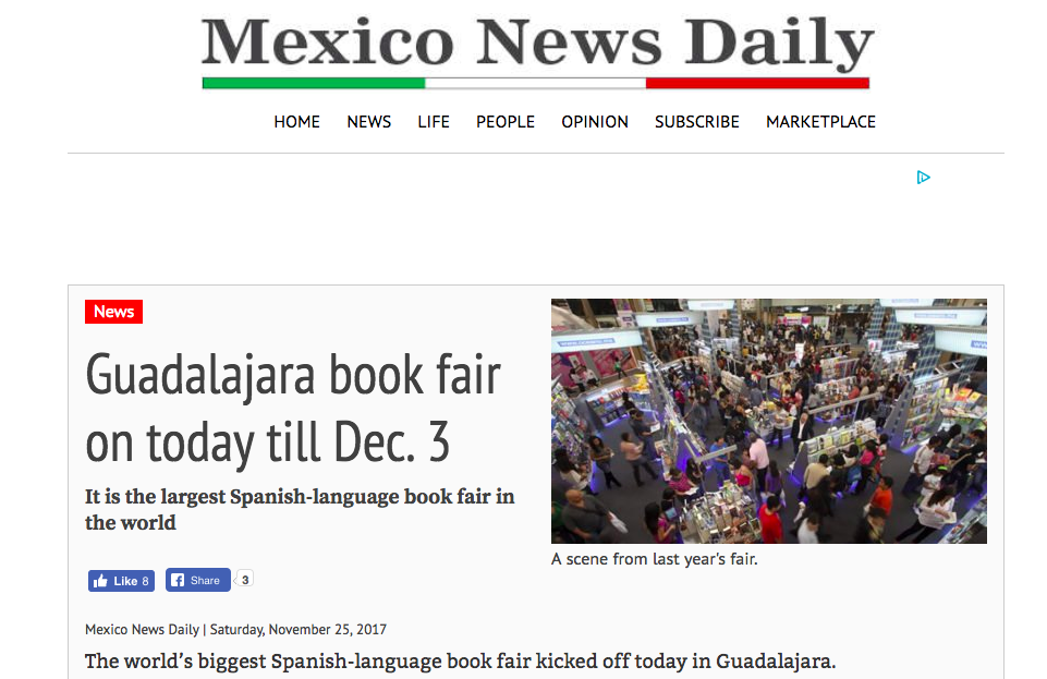 Guadalajara International Book Fair Starts Today