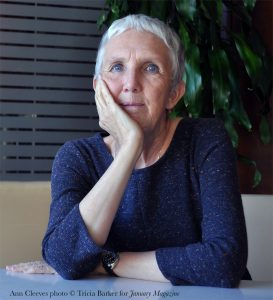 Ann Cleeves photo by Tricia Barker for <em>January Magazine</em>.