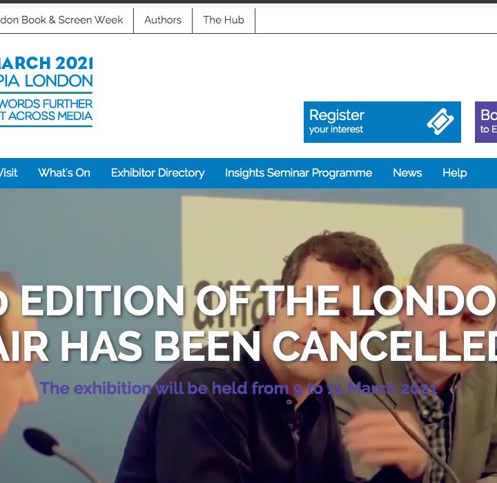 2020 London Book Fair Canceled Due to COVID-19 Coronavirus Concerns