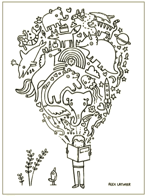 Kids Stuck Inside? Here's A Free Coloring Book from Every Child A Reader